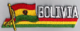 Bolivia Embroidered Flag Patch, style 01.